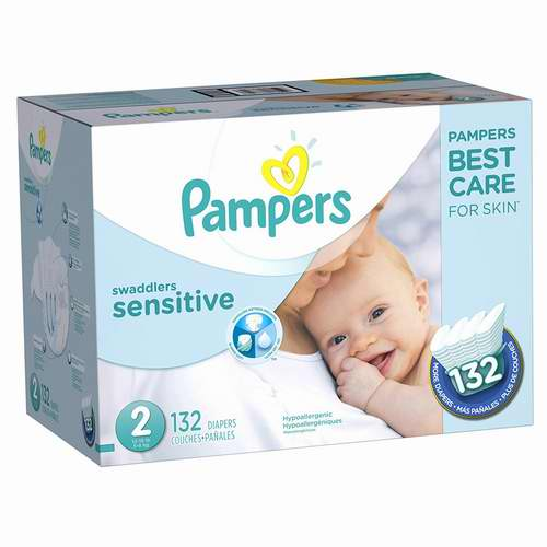 Pampers Swaddlers SENSITIVE 婴幼儿尿不湿/纸尿裤 34.77-35.99加元( Size 1-4),toysrus同款价 42.99加元