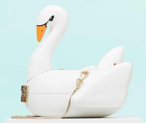 独特魅力,优雅显气质!新款 Kate Spade 3d 天鹅手提包 398加元