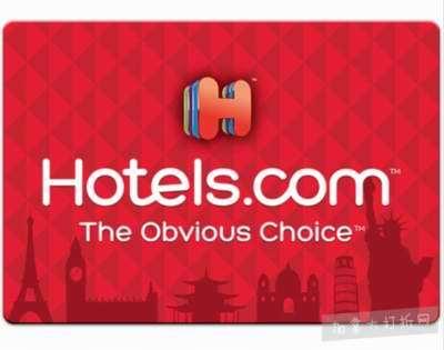 Hotels 电子礼品卡立省15加元,仅售85加元!