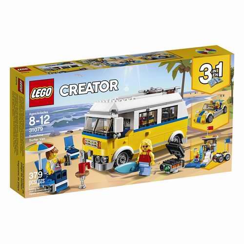LEGO 乐高 Creator 6213389阳光冲浪户外露营积木套装 38.64加元,原价 58.08加元,包邮