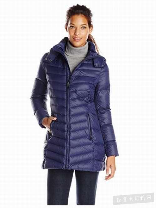 Tommy Hilfiger Mid Length女士中长款修身羽绒服 104.99加元(2色),原价 260加元,包邮