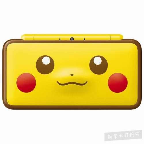 新品发售!Nintendo 任天堂 New 2DS XL 超萌皮卡丘限定版游戏机 209.99加元!