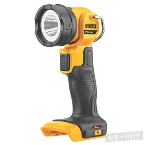 历史最低价!DEWALT DCL040 20伏 LED手电筒 26.99加元,原价 60.63加元