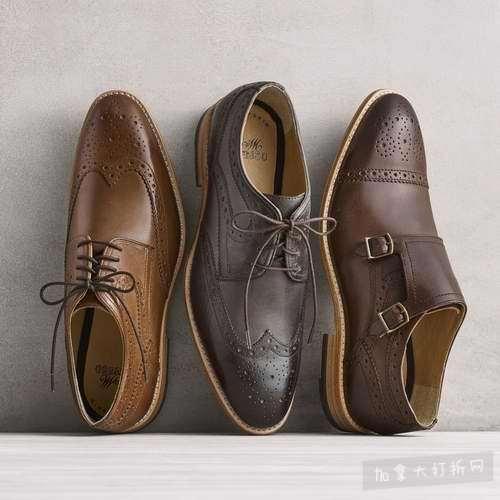 美国总统专属鞋匠!Johnston Murphy 男士小牛皮牛津鞋 67.5加元起特卖!手慢无!