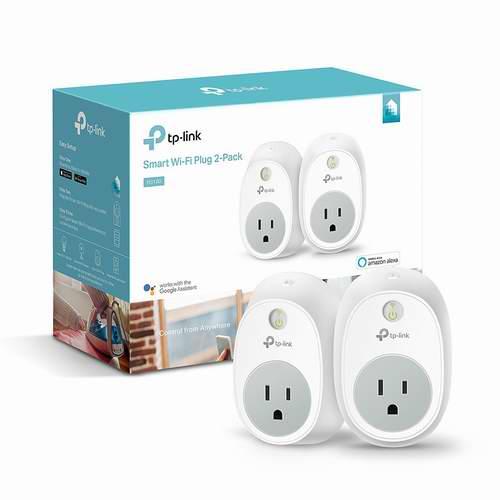 TP-Link HS100 Wi-Fi 智能无线遥控插座 2个装 45.98加元,原价 74.99加元,包邮