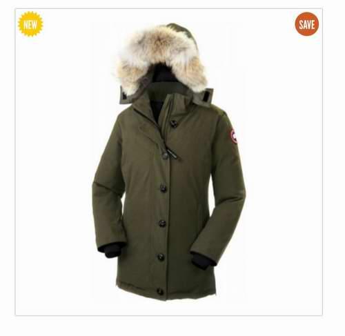Canada Goose Dawson 女款军绿色毛领羽绒服 8折 759.98加元(L码),原价 994.99加元,包邮