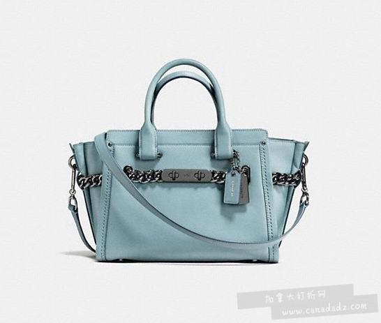 Coach Swagger 27 天蓝色手袋 292.5加元,原价 585加元,包邮