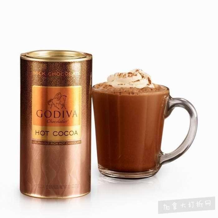Godiva 歌帝梵13.1 盎司黑巧克力热可可粉罐装 10.5加元,原价 15加元