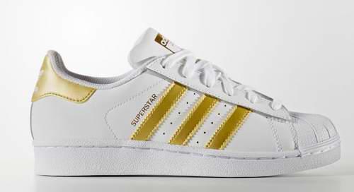 Adidas Superstar 女款大童经典运动鞋 39.95加元,原价 85加元