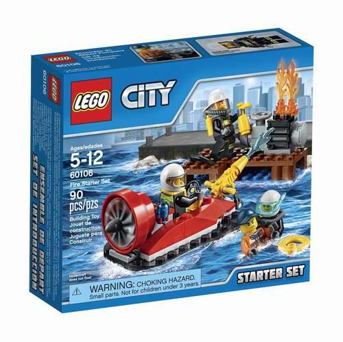 LEGO 乐高 60106 城市系列  消防入门套装 9.74加元,原价 12.99加元