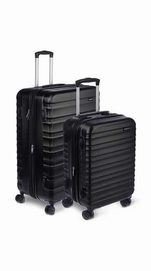 历史新低!AmazonBasics 20/28寸 可扩展 黑色硬壳 拉杆行李箱2件套 120.86加元包邮!
