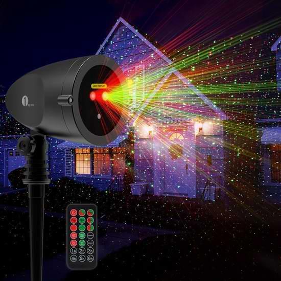 历史新低!1byone 可遥控 满天星 激光装饰灯1.7折 12.99加元限量特卖并包邮!