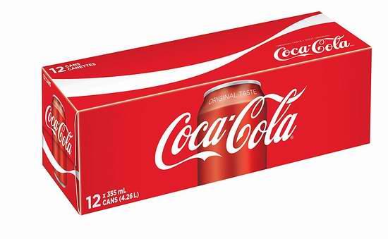 Coca-Cola Coke 可口可乐 经典口味碳酸饮料(355ml x 12) 3.79加元!