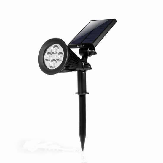 历史新低!OxyLED E03S LED 太阳能户外防水射灯3.6折 11.99加元!