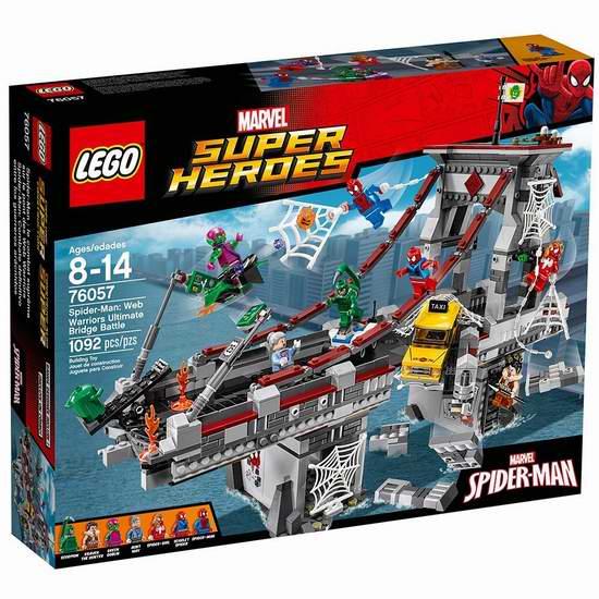 历史新低!LEGO 乐高 76057 超级英雄 蜘蛛侠大桥决战(1092pcs)6.9折 89.99加元包邮!