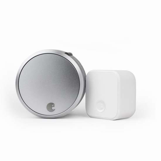 超好价!历史新低!August Smart Lock Pro + Connect 智能门锁套装6.3折 229加元包邮!再送价值60加元智能家居产品!