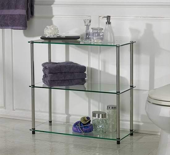 历史新低!Convenience Concepts 157002 三层式 玻璃层架5.5折 46.22加元包邮!