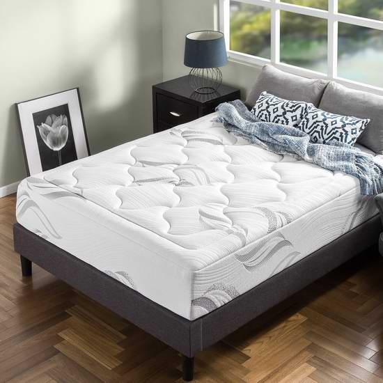 历史新低!Zinus 12英寸豪华超软绿茶记忆海绵King床垫 361.17加元包邮!另有Full床垫史低价259.17加元!