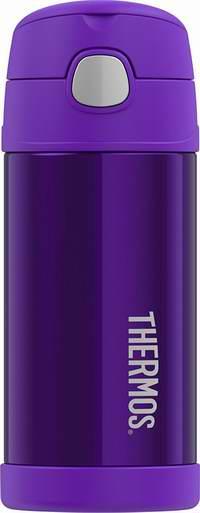 历史新低!Thermos 膳魔师 Funtainer 12盎司 紫色 儿童不锈钢保温杯 13.62加元!