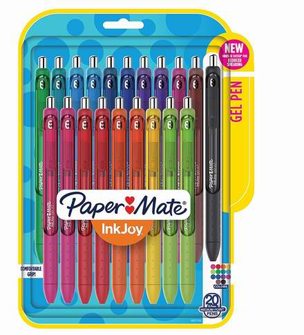 白菜价!历史新低!Paper Mate InkJoy 彩色凝胶笔20件套 10.88加元清仓!