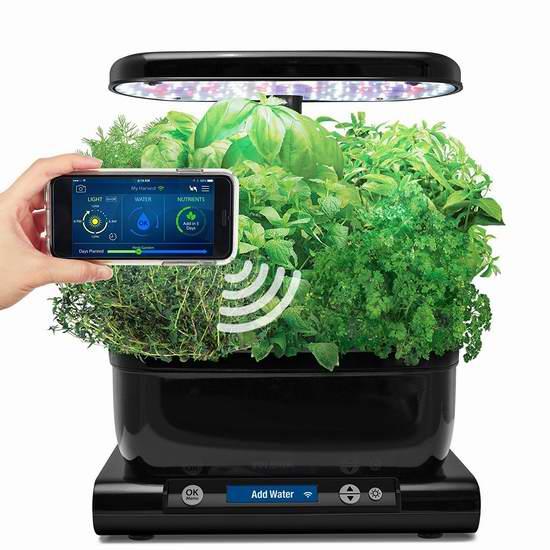 金盒头条:历史新低!AeroGarden Harvest Wi-Fi 室内小花园+种子套装5.3折 119.99加元包邮!