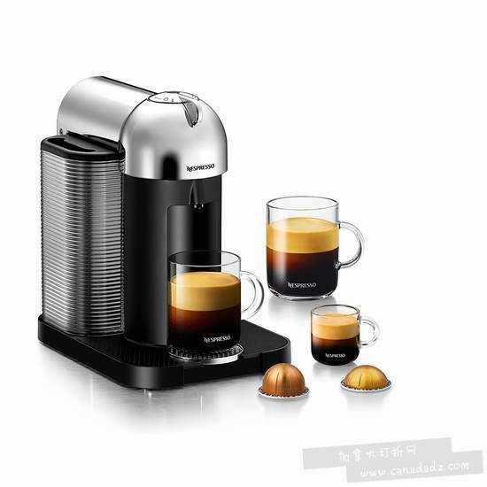 最人性化咖啡机!Nespresso VertuoLine 全自动胶囊咖啡机6折 148.99-149.99加元包邮!3款可选!