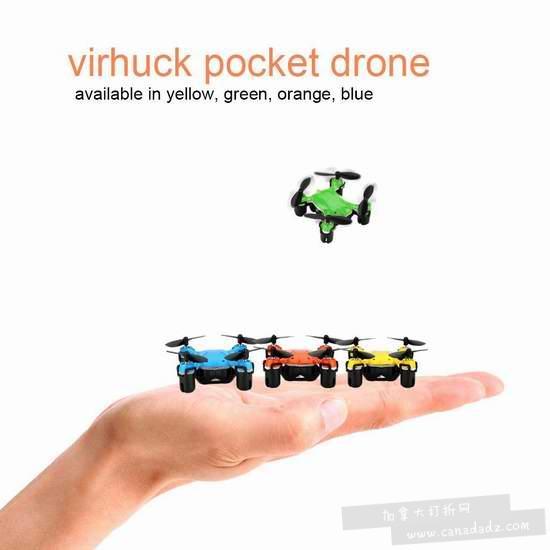 历史新低!Virhuck volar-360 超迷你 掌上4旋翼 无人机4.2折 9.99加元清仓!