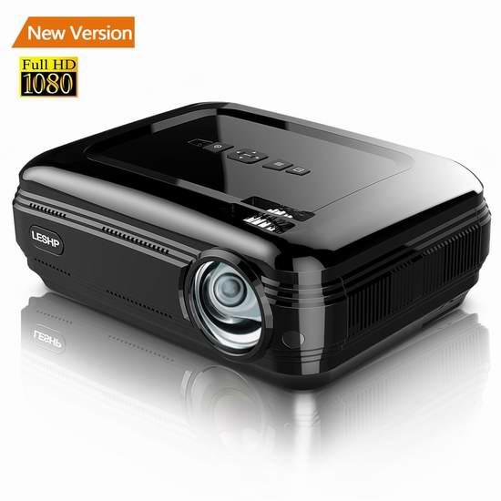 LESHP 3200流明 1080p 家庭影院投影仪 169.99加元限量特卖并包邮!