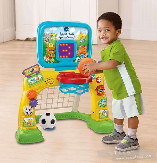VTech 伟易达 Smart Shots 二合一 宝宝室内 足球/篮球架 38.01加元!