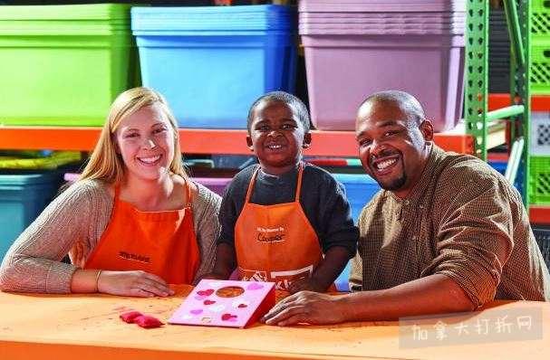 Home Depot 2-3月免费儿童手工课,及家庭装修免费课程安排一览!
