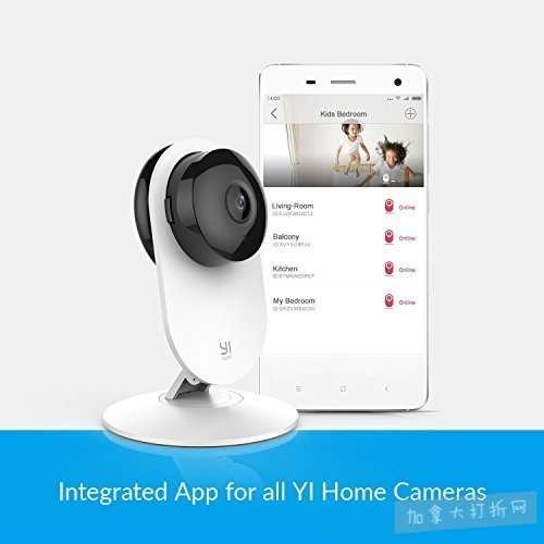 Xiaomi 小米 Yi 小蚁 1080p 双向语音 红外夜视 智能监控摄像机 39.99加元包邮!
