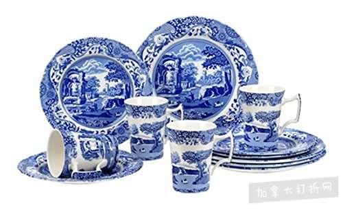 历史新低!Spode 英国顶级百年名瓷 Blue Italian 中国风 蓝白复古餐具12件套2.6折 102.99加元清仓并包邮!
