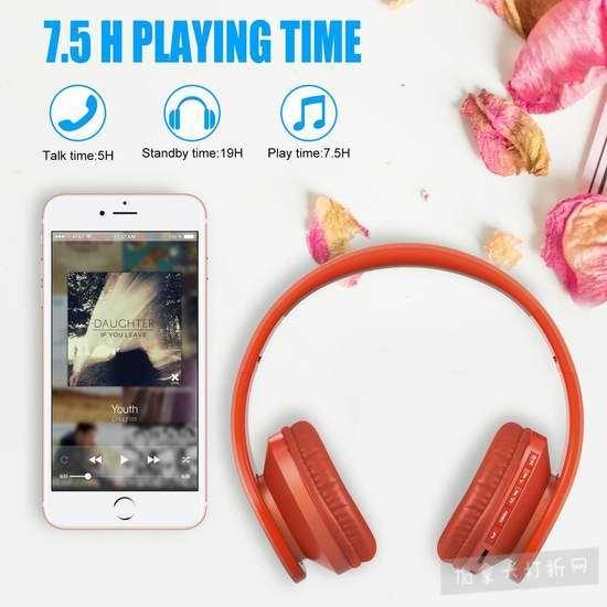 白菜价!历史新低!Lobkin 四合一升级版 可折叠 蓝牙无线 头戴式耳机2.9折 9.99加元清仓!3色可选!