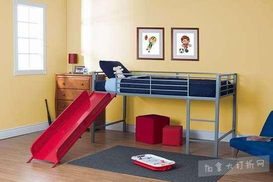DHP Junior Fantasy Loft Twin 儿童滑梯床 239.99加元包邮!