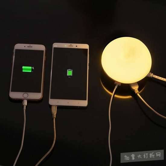 历史新低!Edal 光感应 双口USB充电 节能创意夜灯3.6折 7.12加元清仓!
