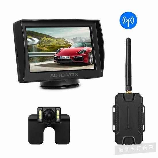 白菜价!AUTO-VOX M1W 无线高清夜视 倒车后视摄像头套装 109.99加元包邮!送价值139.99加元AUTO-VOX D7 WiFi 1080P全高清超大广角超级夜视GPS行车记录仪!