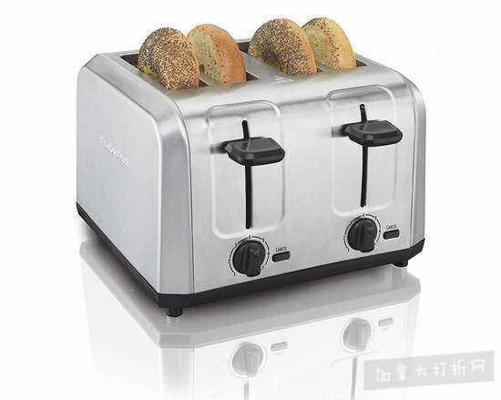 Hamilton-Beach 24910 4片 不锈钢烤面包机 25加元特卖!