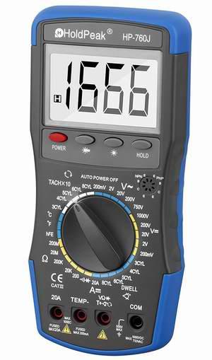 历史新低!HOLDPEAK 760J 多功能数字万用表2.7折 12.99加元!