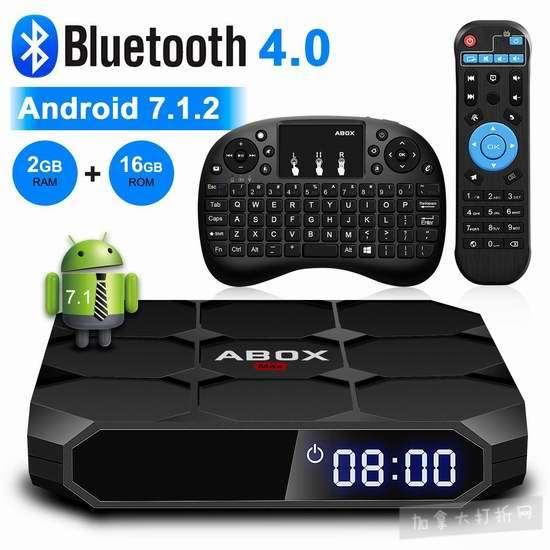 Globmall ABox MAX 4K超高清 网络电视机顶盒(2GB/16GB)+无线迷你键盘 71.49加元限量特卖并包邮!