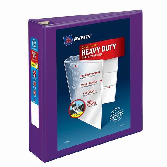 历史新低!Avery Heavy Duty 2英寸 3环 高品质文件夹2.4折 3.98加元清仓!