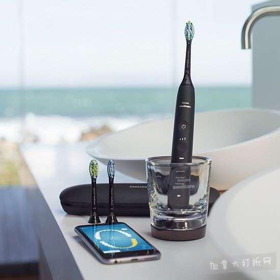 近史低价!最新版 Philips 飞利浦 HX9903/01 钻石亮白 蓝牙智能系列 声波震动牙刷 188.66加元包邮!