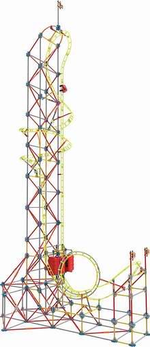 白菜价!历史新低!Knex Sky Sprinter 2.2米 二合一 巨型过山车拼插积木套装2.6折 44.97加元清仓并包邮!