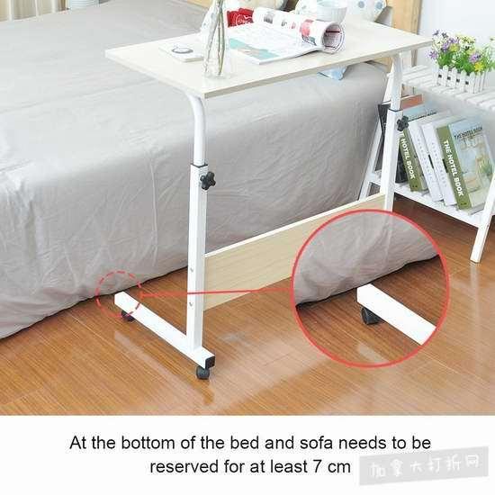 Soges 23.6寸 便携式可调节 床边/沙发电脑桌 33加元限量特卖并包邮!