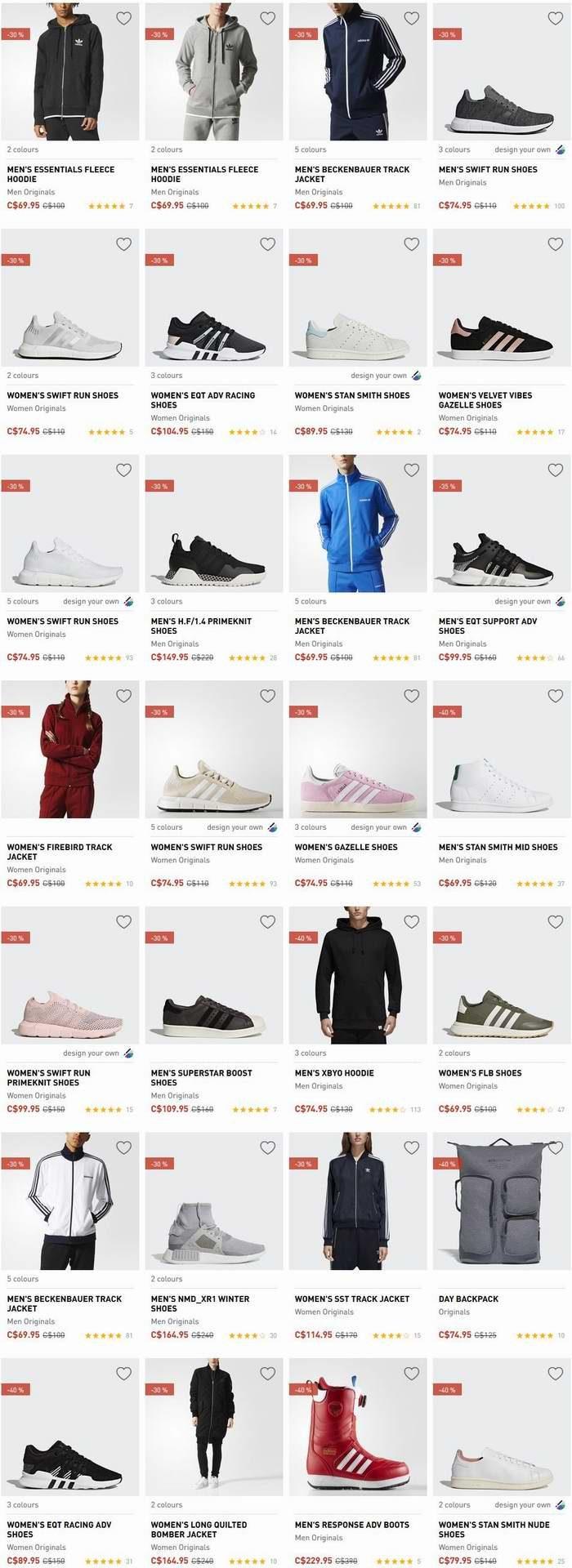 Adidas 季末特卖!全场成人儿童运动鞋、运动服等2.5折起!精选新款运动鞋、防寒服等6折起!