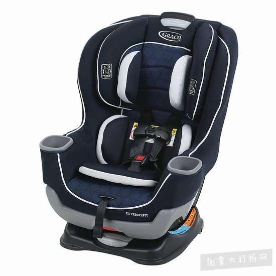 历史最低价!Graco Extend2Fit双向婴幼儿汽车座椅 229.87加元(2色),原价 349.99加元,包邮