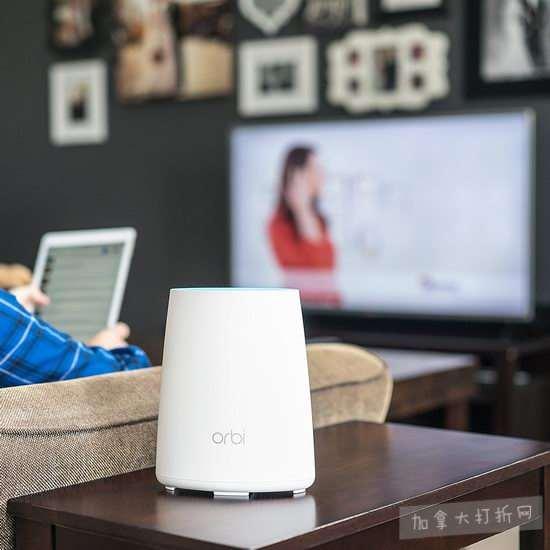 史低价!稳定 · 高速 · 全覆盖!NETGEAR Orbi 三频 Mesh 家庭 WiFi 系统 348.99加元,原价 469.99加元,包邮