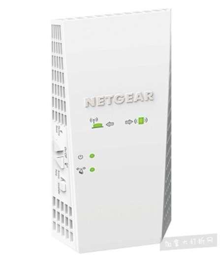 史低价!2017年度5大最佳WiFi扩展器之一!Netgear Nighthawk X4 AC2200 WiFi范围扩展器 129.99加元,原价 199.99加元,包邮