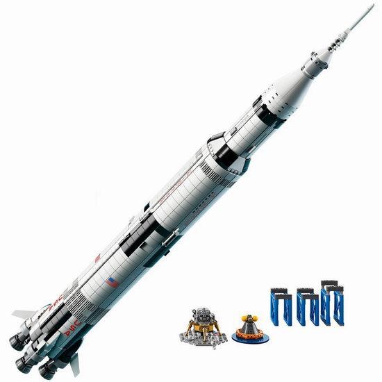 LEGO 乐高 21309 创意系列 Saturn Ⅴ 阿波罗计划 土星五号运载火箭(1969pcs) 118.99加元包邮!