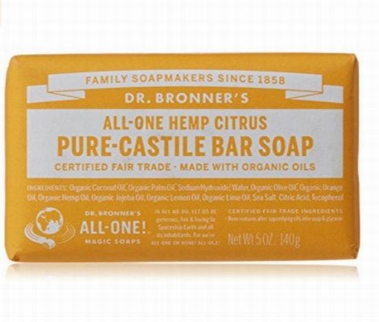 Dr.Bronner's布朗博士柑橘精油有机皂 5.77加元,原价 13加元