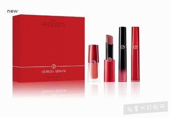 新Giorgio Armani 阿玛尼唇膏超值套装价值174加元 仅125加元特卖!